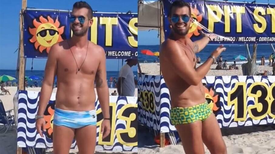Bruno Borat abre barraca de praia depois de se recuperar de tiro