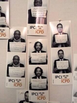Credenciais de deputados que participaram da reunião da ONU