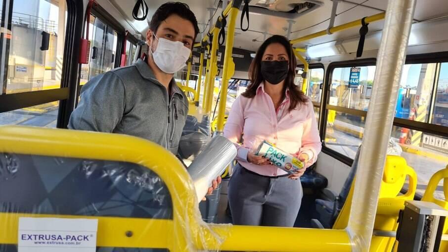 De acordo com a Prefeitura de Guarulhos, o produto tem 99% de eficácia contra o coronavírus