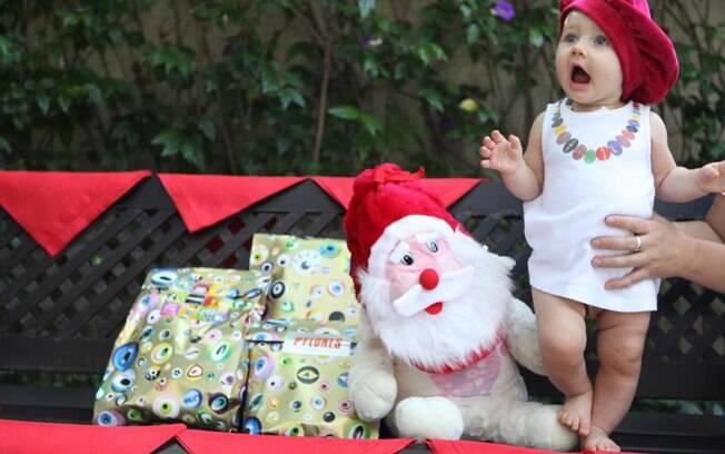 Ella Felipa, filha de Fábio Assunção, em foto postada no Facebook pelo ator na noite de Natal