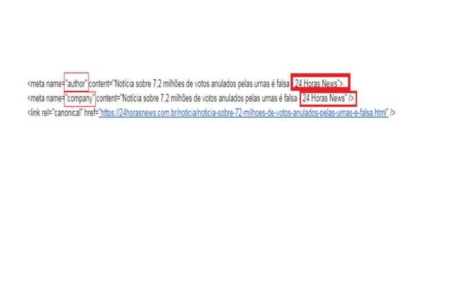 Veja o ponto onde site informa ao Google que ele é o autor da matéria
