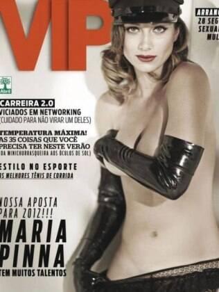O look de Maria Pina na capa da publicação masculina
