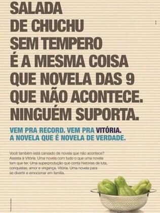 Anúncio de 'Vitória' debochando da Globo
