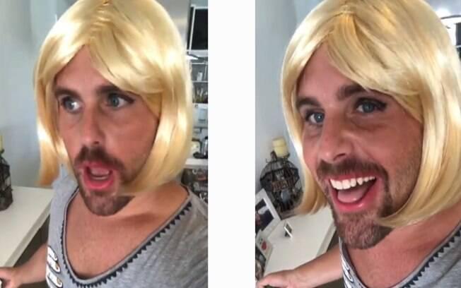 Thiago Gagliasso faz sátira usando peruca loira e fãs apontam provocação a Giovanna Ewbank
