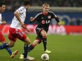 Bayer Leverkusen acabou perdendo para o vice-lanterna Hamburgo, nesta sexta-feira