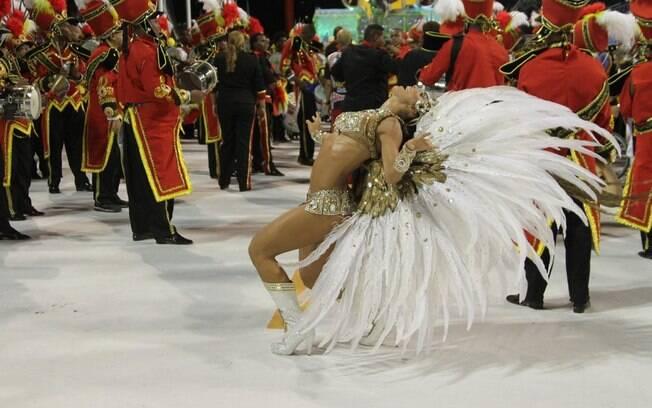 O desfile da Grande Rio na noite das campeãs no carnaval 2013