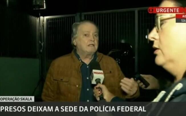 Ex-ministro Wagner Rossi deixa a Polícia Federal, após revogação da prisão pelo ministro Barroso