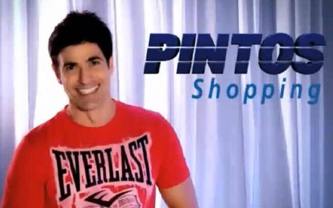 Reynaldo Gianecchini na propaganda do Pintos Shopping