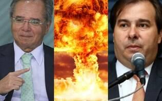 """Rodrigo Maia rebate Guedes e diz que ministro está """"criando crise desnecessária"""""""
