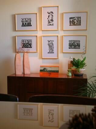 Frederico Adejar valeu-se da distribuição dos quadros para personalizar a parede