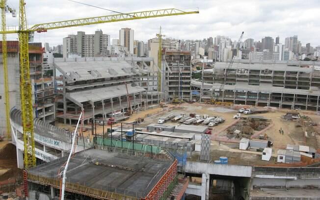 A Nova Arena vista de cima. Empreendimento  custou R$ 400 milhões à WTorre