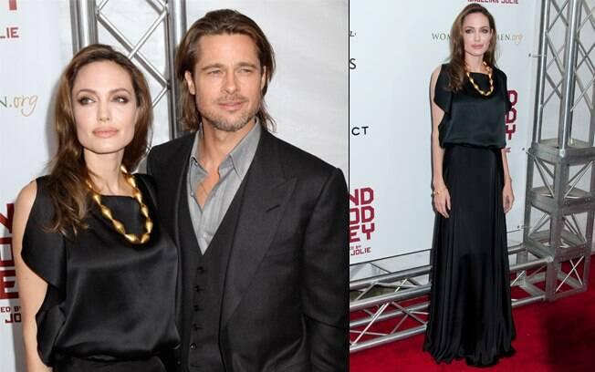 Angelina Jolie e Brad Pitt no tapete vermelho do evento