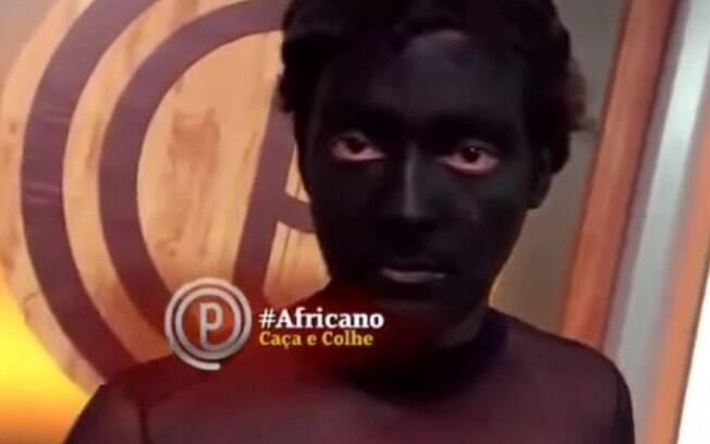 Eduardo Sterblitch interpretou o personagem Africano em quando do 'Pânico'