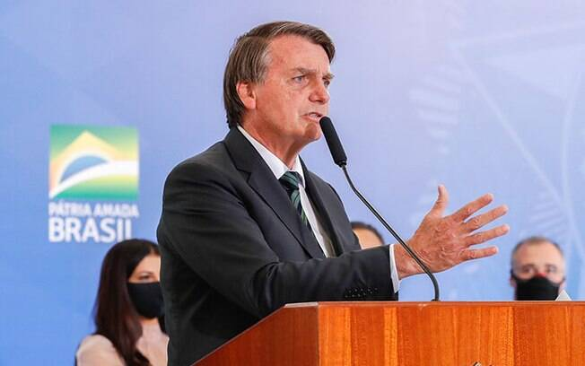 Presidente Jair Bolsonaro durante evento no Palácio do Planalto