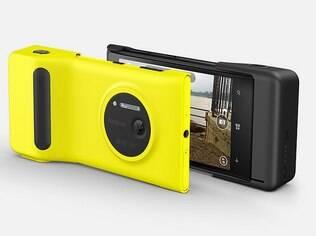 Acessório deixa Lumia 1020 parecido com uma câmera