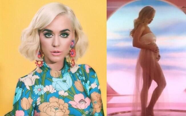Katy Perry anunciou que está grávida no clipe de Never Worn White
