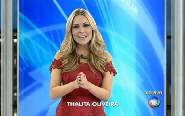 8adc469b9930b No último domingo (1), Thalita Oliveira estreou ao lado de Paulo Henrique  Amorim