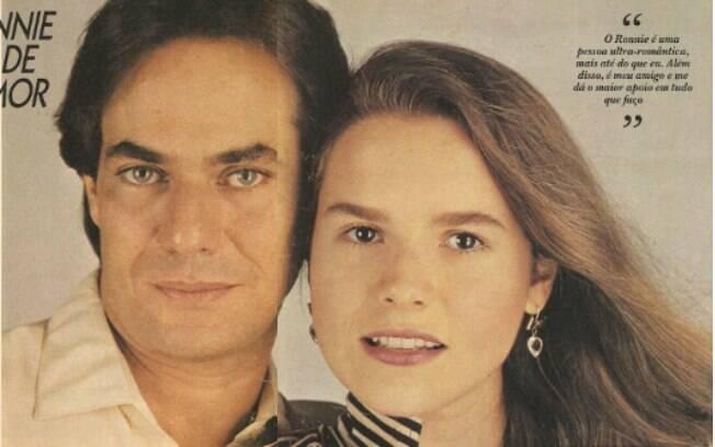 Ronnie Von e Bia Seidl namoraram e se casaram em 1984