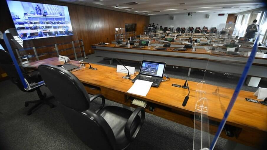 Sala da CPI da Covid no Senado Federal