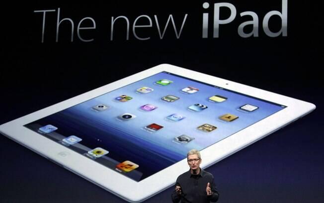 Novo iPad é mais rápido e tem tela de alta definição