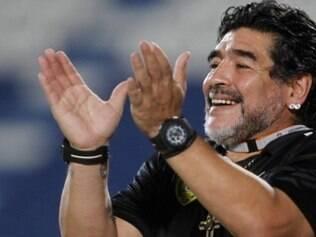 Maradona fez críticas aos dirigentes da Fifa e muitas brincadeiras em um papo bem descontraído