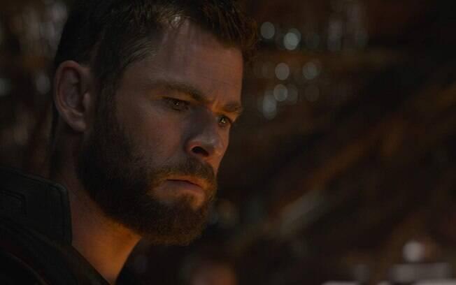 Thor em cena de Vingadores: Ultimato