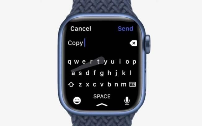 Teclado do Apple Watch Series 7