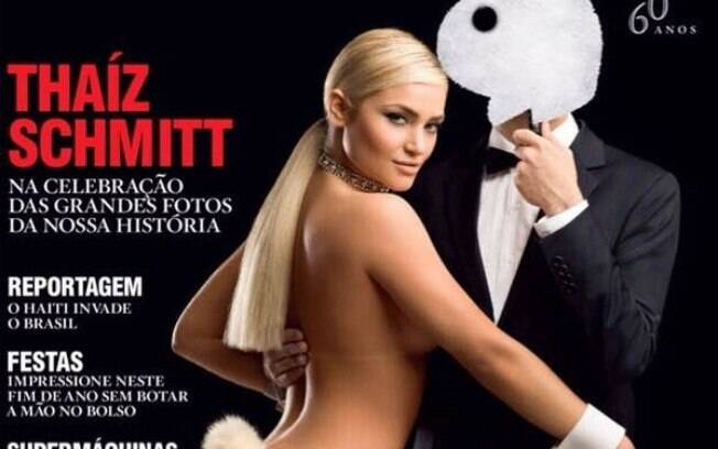 Thaiz Schmitt na capa da Playboy Brasil