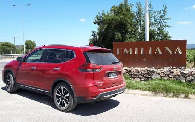 Chegada na Viña Emiliana com o Nissan X-Trail