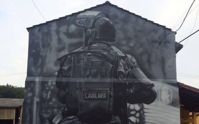 Movimento cultural urbano entra nos Quarteis do Policiamento de Choque para mostrar sua arte