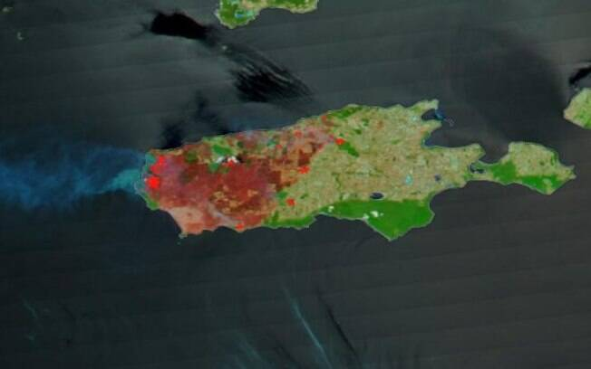 Cerca de um terço da Austrália foi devastada pelos incêndios, de acordo com registros da NASA.