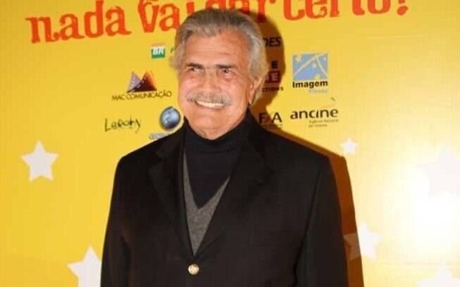 Tarcísio Meira comemora volta ao cinema