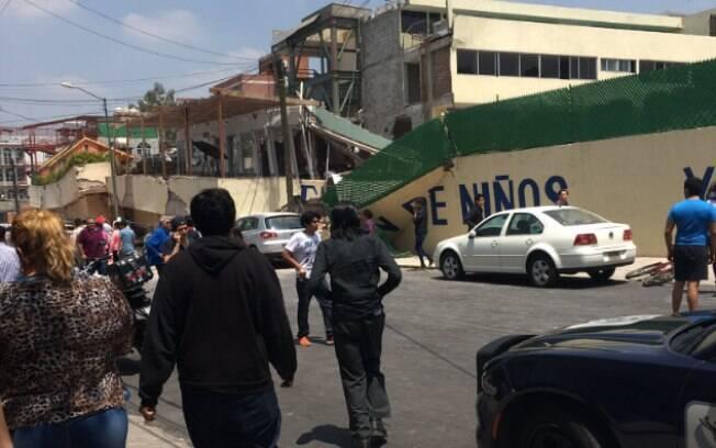 Colégio Enrique Rebsamen, no sul da Cidade do México, desabou durante o terremoto; Frida Sofia estaria dentro da escola