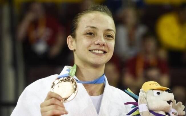 A estreante Nathália Brígida, 22, levou o bronze até 48 kg