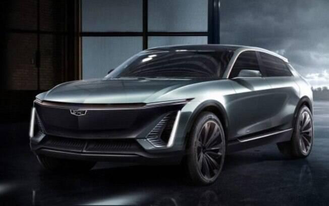 A Cadillac divulgou a primeira imagem de um e-SUV que vai usar a nova plataforma de carros elétricos da General Motors