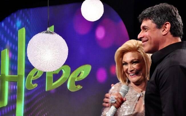 Alexandre Frota e Hebe Camargo