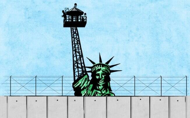 Em crítica explícita, artista jordaniano retrata muro como obstrução da liberdade, afetando muçulmanos em todo o mundo