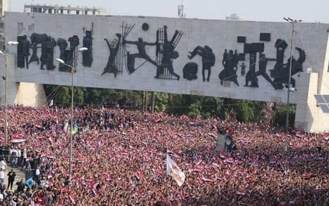 As manifestações no Iraque contra corrupção do governo, melhores condições de serviços e mais empregos