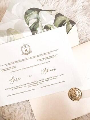 Convite de casamento da Sara e do Abner