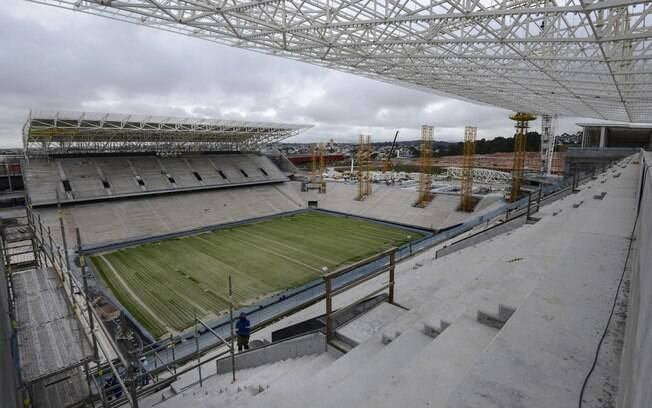Estádio do Corinthians já chegou a 85% de  obras concluídas
