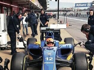Felipe Nars comemorou resultado dos testes desta sexta-feira