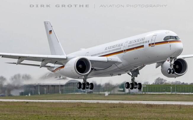 Airbus A350 presidencial da Alemanha entra em servio