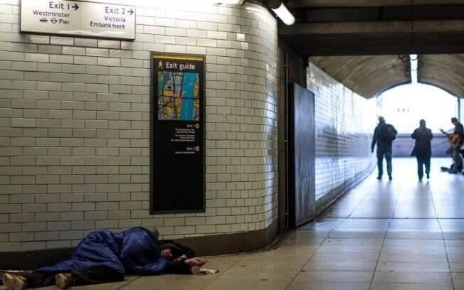 População de rua cresceu 18% em Londres e atingiu recorde de dez anos