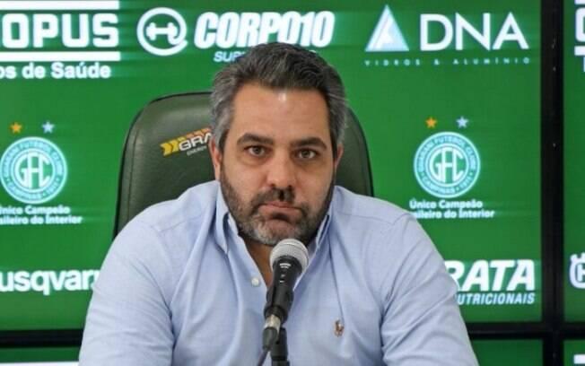 Ricardo Moisés fala sobre busca por novo técnico do Guarani