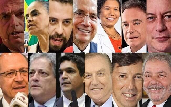 Ibope e Datafolha pesquisam sobre as intenções de voto nos 13 candidatos à presidência da República nas eleições