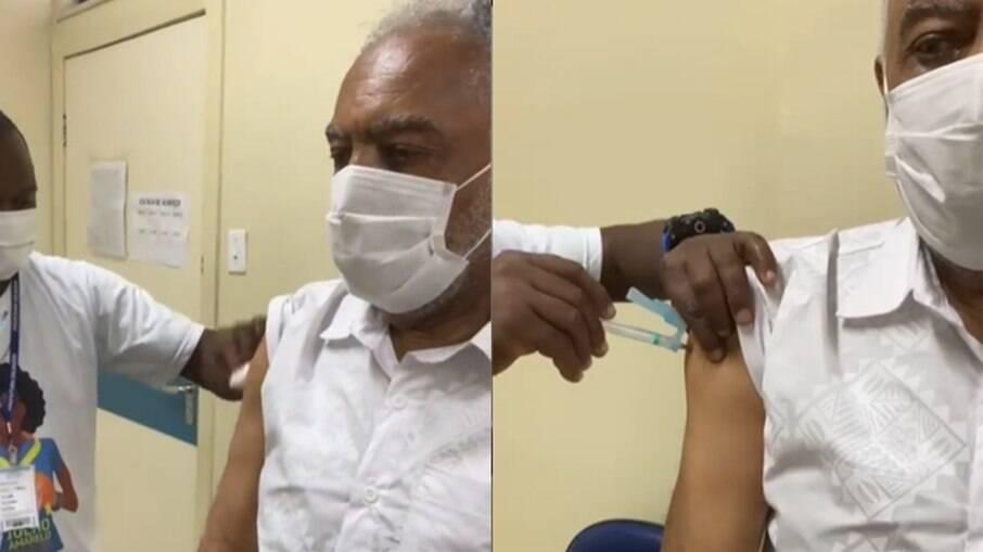 Glberto Gil é vacinado para Covid-19