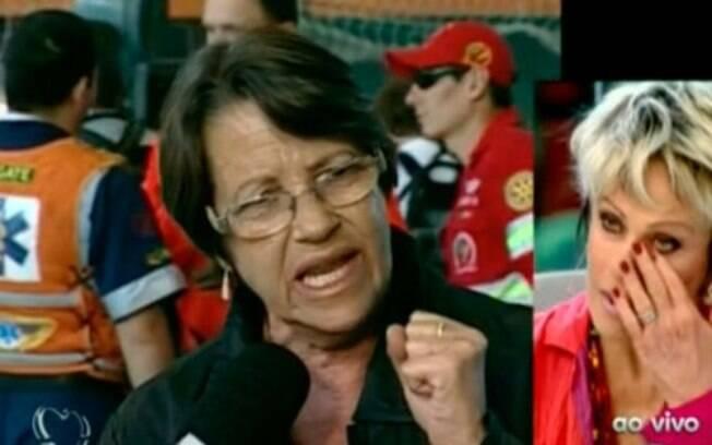 Em janeiro, Ana Maria Braga não conseguiu se conter ao conversar com a mãe de duas vítimas do incêndio na Boate Kiss, em Santa Maria (RS)