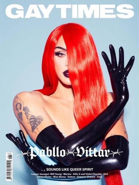 Pabllo Vittar é capa da revista Gaytimes
