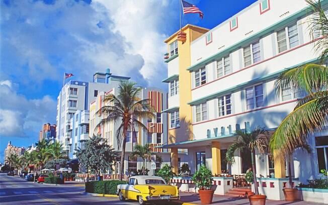 Ocean Drive na famosa South Beach