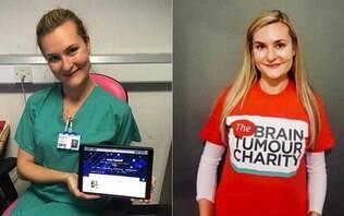 Enfermeira descobre tumor no cérebro ao ler pôster colado na parede do hospital